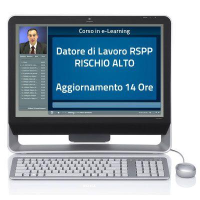 Corso online - Datore di Lavoro RSPP (Rischio Alto) - Aggiornamento 14 ore