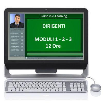 Corso Corso online - Dirigenti - Sicurezza sul lavoro - Moduli 1-2-3 - 12 ore