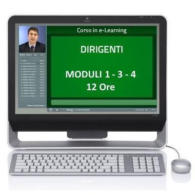 Corso Corso online - Dirigenti - Sicurezza sul lavoro - Moduli 1-3-4 - 12 ore